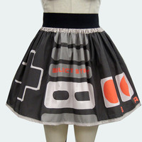 Retro Video Game Controller Full Skirt RESERVED by GoChaseRabbits