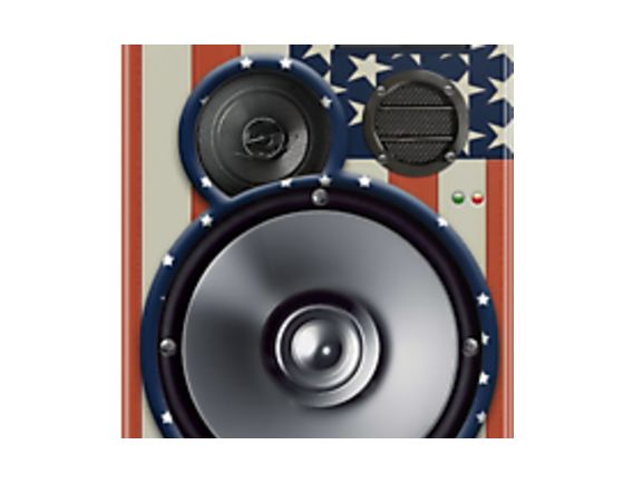 America flag speaker phone cover