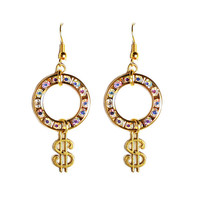 Iridescent Wheel Of Fortune Earrings