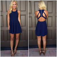 Triad Cut Out Dress - NAVY