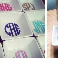 Monogrammed Ring Dishes - Perfect Bridesmaid Gifts!