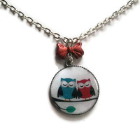 Owl Necklace Woodland Pendant Kawaii by KitschBitchJewellery