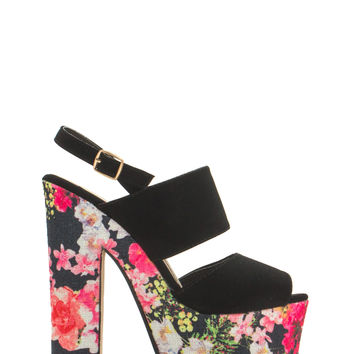 Double Play Chunky Platform Heels