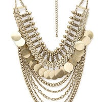 Layered Chain & Coin Necklace