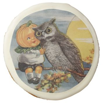 Owl Pumpkin child Halloween Cookie