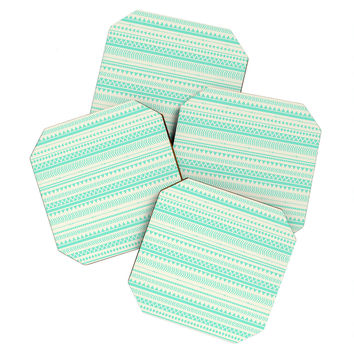 Allyson Johnson Mint Tribal Coaster Set