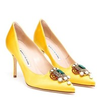 MANOLO BLAHNIK | Eufrasia High Heeled Satin Pumps | Browns fashion & designer clothes & clothing