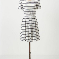 Scalloped Stripes Dress