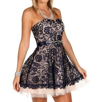 Naveah- Navy Homecoming Dress