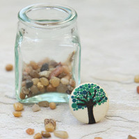dotted oak tree indie button ring : ShopRuche.com
