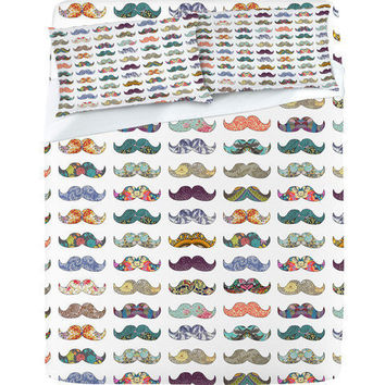 Mustache Mania - Sheet Set by Bianca Green | DENY Designs