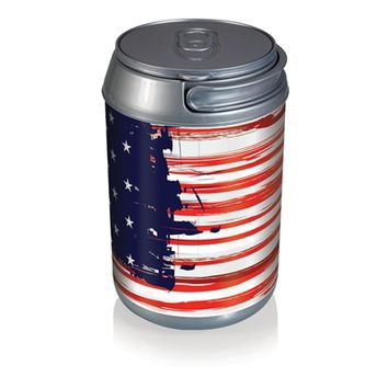 SheilaShrubs.com: Mini Can Cooler - Stars & Stripes Can 691-00-826-000-0 by Picnic Time : Coolers