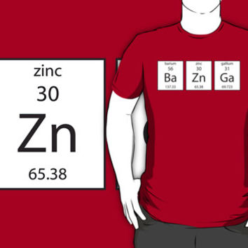 BA ZN GA Chemistry Periodic Table Of Elements T Shirt