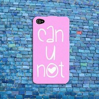 Funny Pink Heart Rubber Cell Phone Quote Case Cover iPhone 4 4s iPhone 5 5s 5c 6