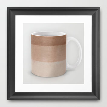Dusty Rose Ombre Mug Framed Art Print by Corbin Henry