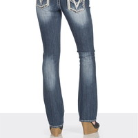 vigoss ® Thick stitch jeans with embellished pockets