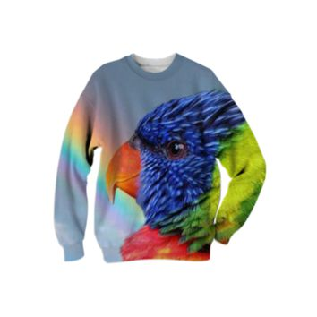 Rainbow Lorikeet Sweatshirt created by ErikaKaisersot | Print All Over Me
