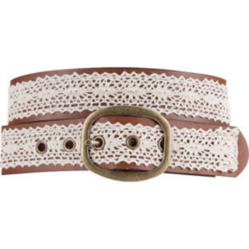 Crochet Overlay Belt Brown  In Sizes
