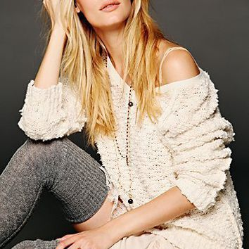 Free People Womens Shaggy Knit Pullover -