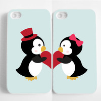 iPhone 4 Case, iPhone 4s Case, iPhone case, iPhone 4 Hard Case : Penguin in love