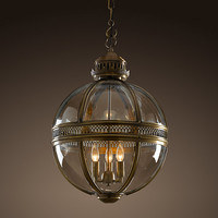 Victorian Hotel Pendant - Antique Brass