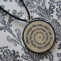 Custom and Personalized  Pendant Necklace - Add your own Song Lyrics, Poems, Quotes, Sayings. etc.- Spiral word