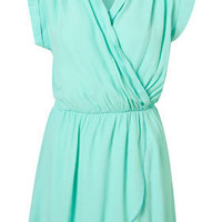Crepe Wrap Dress by Love** - Dresses - Clothing - Topshop USA