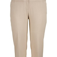 smart khaki plus size trouser capri