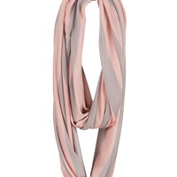 Lightweight striped infinity scarf