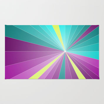 Rays abstract Area & Throw Rug by eDrawings38 | Society6