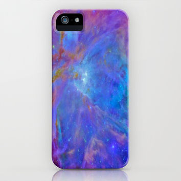 Orion Nebula Cool Blues & Lavenders iPhone & iPod Case by 2sweet4words Designs