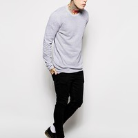 ASOS Longline Jumper with Perforated Texture at asos.com