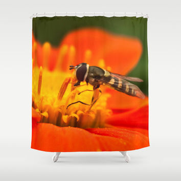 Native Pollinators 1 Shower Curtain by Legends of Darkness Photography