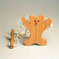 Climbing Bear .. Childrens wooden heirloom toy