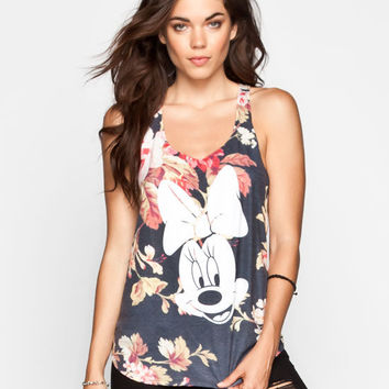 Neff Disney Collection Minnie Face Womens Tank Black Combo  In Sizes