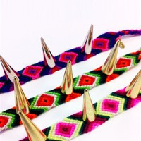 Spikes Friendship Bracelets- Friendship Bracelets- Charmdeliers- $28