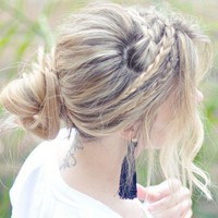 ...love Maegan: Messy Rope Braids and Low Bun Hair Tutorial Fashion+Home+Lifest