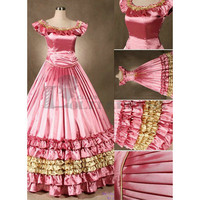 Discount Sleeveless Multi-Layer Ruffles Satin Gorgeous Cheap Pink Gothic Victorian Dress [TQL120427004] - £75.59 : Zentai, Sexy Lingerie, Zentai Suit, Chemise