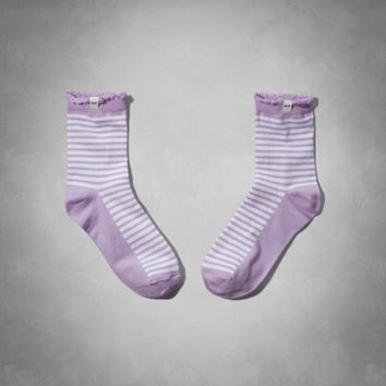 Ruffle Striped Socks