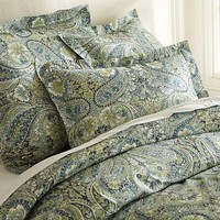 Bella Paisley Duvet Cover &amp; Sham - Blue