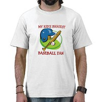 Worlds Biggest Baseball Fan Tee Shirt from Zazzle.com
