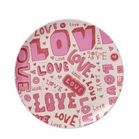 Love Collage Party Plate from Zazzle.com