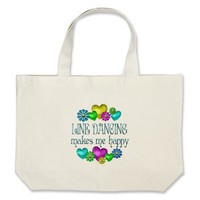 Line Dancing Happinness Tote Bag from Zazzle.com