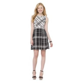 Junior's Printed Fit & Flare Dress