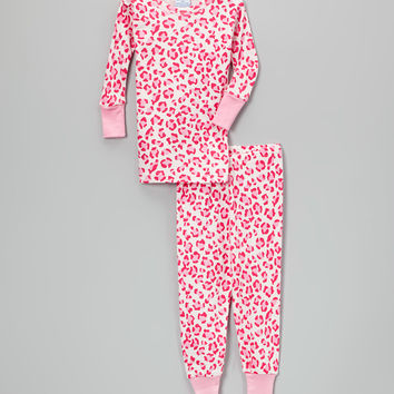 Pink Leopard Pajama Set - Infant, Toddler & Girls | zulily