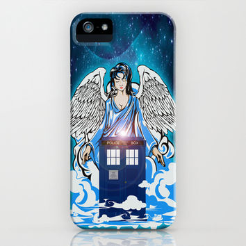 Tardis doctor who The Angel has a phone box apple iPhone 4 4s, 5 5s 5c, iPod & samsung galaxy s4 case