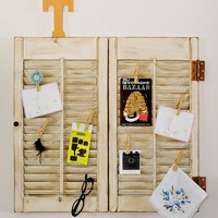 Tortoise and the Hare: window shutter wall display