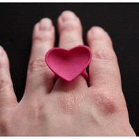 Curved Heart ring