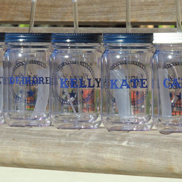 acrylic mason mug, country wedding, wedding favor, mason drinking mug, acrylic cups, bridal party gift, bridesmaid cup, party cup