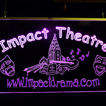 Custom LED Business Theater Sign Personalize with your Design or Logo,  LED Multi Color Changing Lights